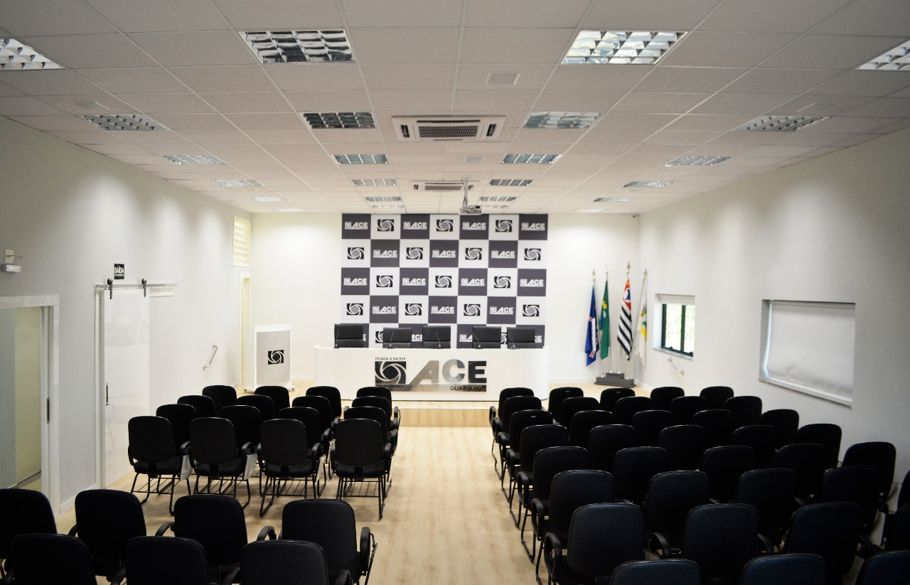 Foto do Auditório na Sede da ACE-Guarulhos